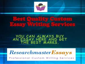 Best custom essay service